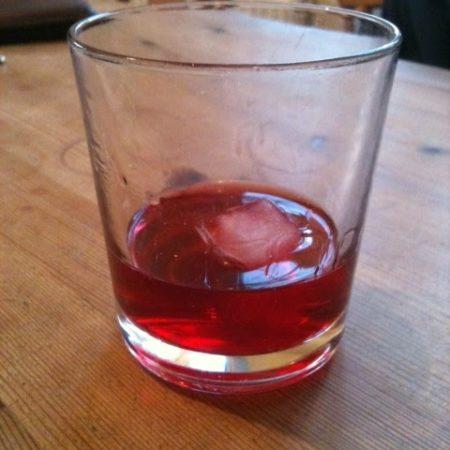 Tasting the sloe gin