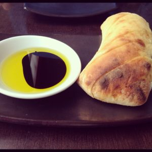 Real Italian Pizza bread and oil