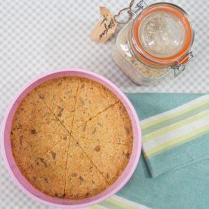 Elderflower and White Chocolate Shortbread - baked