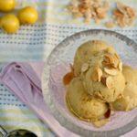 Greengage and Almond Ice Cream