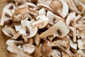 Pork Wellington - chopped mushrooms
