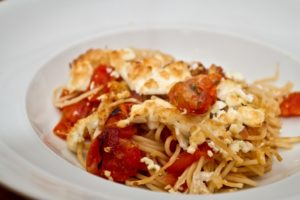 Greek Style Baked Spaghetti and Feta