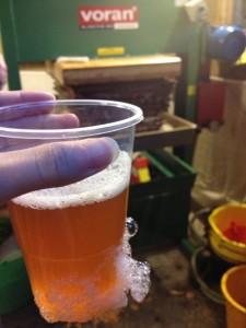 Ciderniks apple juice from the cider press