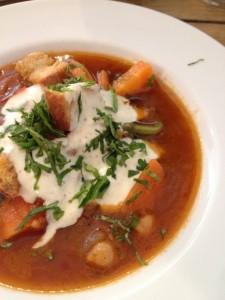 chickpea and chorizo soup - pipsdish