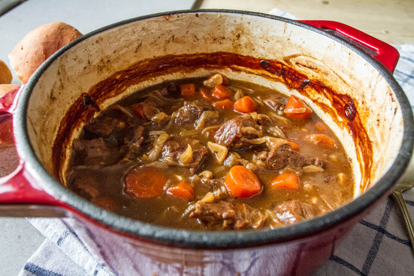 Beef Braised in Beer with Onions and Carrots - All That I ...