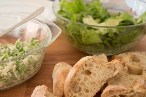 Broad Bean and Feta salad