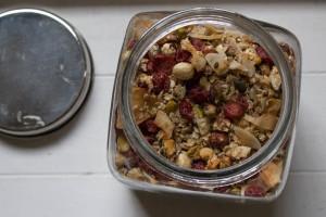Easy Homemade Granola in jar