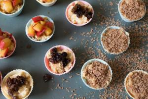 Mini Cheesecake Mess - raisin, apple and chocolate