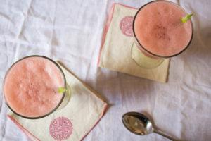 Grapefruit, Lime and Basil Agua Fresca