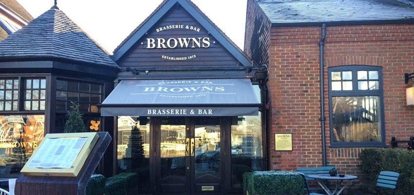 Lunch at Browns, Windsor