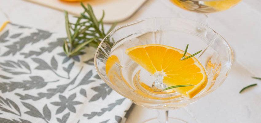 Orange and Rosemary Martini