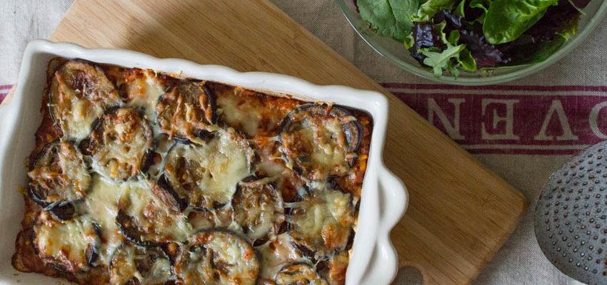 Layered Ragu and Aubergine Pasta Bake