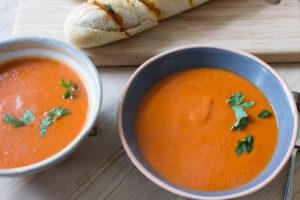 Smoky Chipotle Tomato Soup - close up