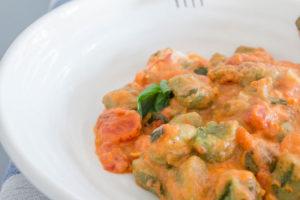 Tomato and Mascarpone Gnocchi Bake served up