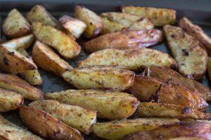 Ras-el-hanout spiced potato wedges