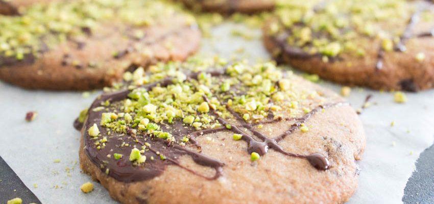 Dark Chocolate Orange and Pistachio Biscuits