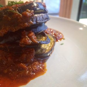 Aubergine stack after editing
