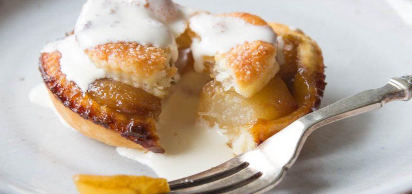 Mini Toffee Pear Pies