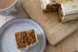 Inside carrot cake