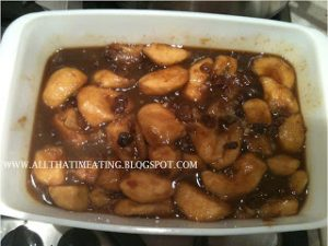 toffee and apple mix