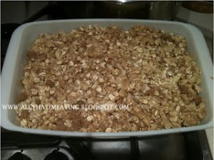 toffee apple crumble baked
