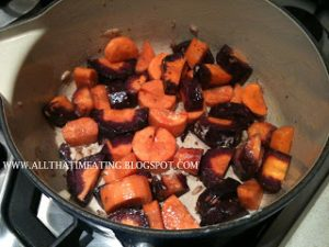 cooking purple carrots