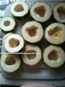 sliced and cored marrow