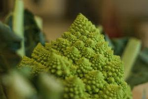 farmers market vegetables - romanesco cauliflower