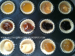 shortcrust pastry tarts before baking