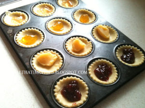 shortcrust pastry tarts before baking