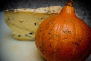 Onion Squash with Blue Cheese