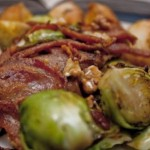 brussels sprouts with bacon and walnuts