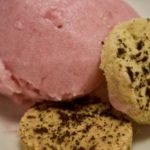 Rhubarb Sorbet and Shortbread