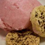 Rhubarb Sorbet and Shortbread