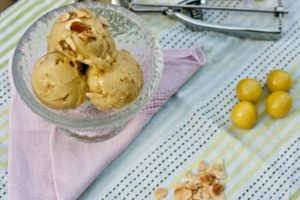 Greengage and Almond Ice Cream
