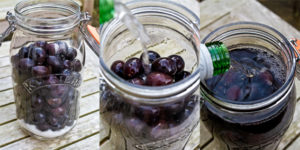 Damson Gin - pouring in the gin