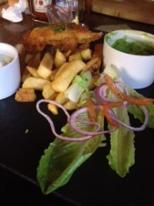 The Bell at Boxford - fish and chips