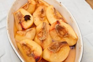 Quince baked with Honey and Star Anise - baked