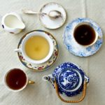 Different teas and crockery
