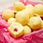 White Chocolate and Rose Truffles