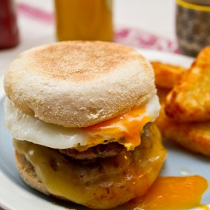 sausage egg and cheese muffin
