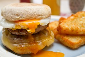 sausage cheese and egg muffin