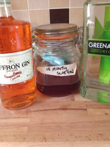 three different gins for the jelly