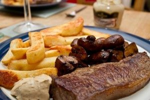 Maille Steak and Chips