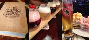 Cambrinus beer, cheese and bacon in Bruges