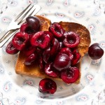 lime macerated cherries on toasted brioche