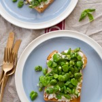 broad beans on toast