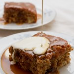 sticky toffee and date pudding with cream