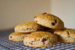elderberry and einkorn scones