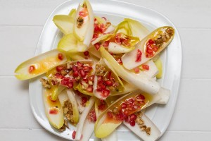 Chicory, Walnut and Pomegranate Salad with Walnut and Clementine Dressing